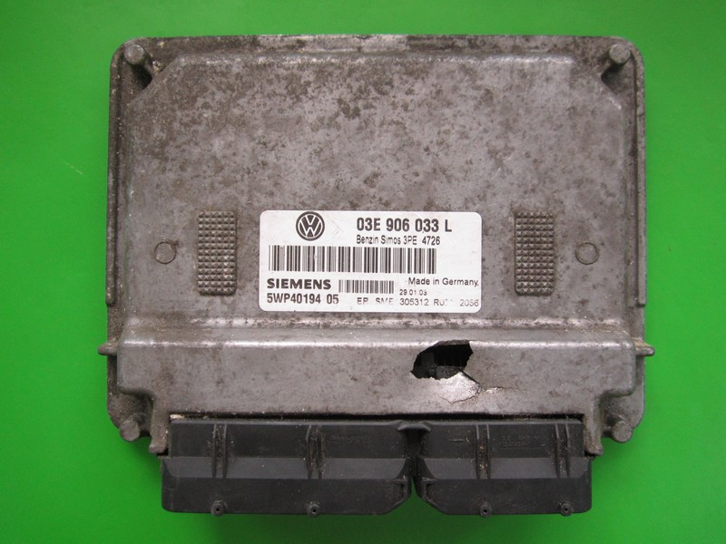 Defecte Ecu VW Polo 1.2 03E906033L 5WP40194 SIMOS 3PE AZQ