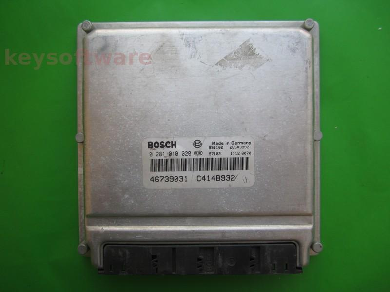 Defecte Ecu Alfa Romeo 156 1.9JTD 46739031 0281010020 EDC15C0