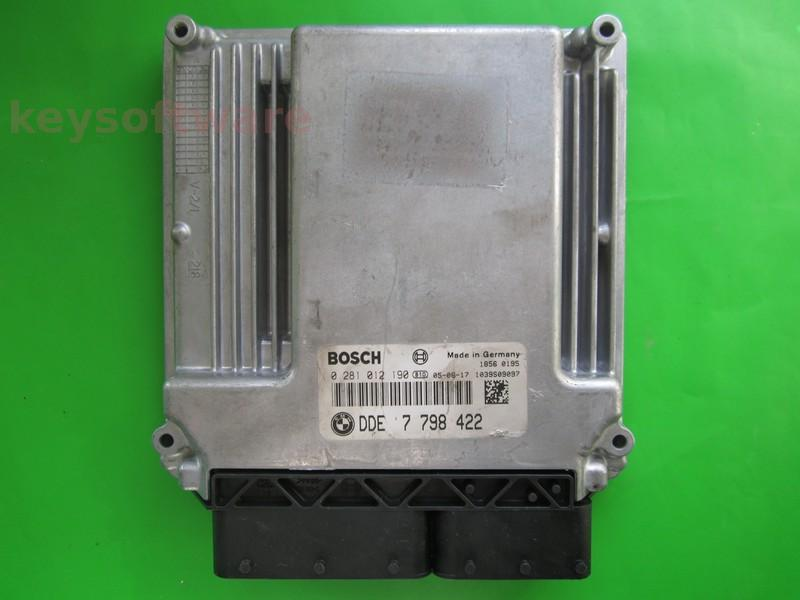 Defecte Ecu Bmw 525D 0281012190 DDE7798422 EDC16C1 E60