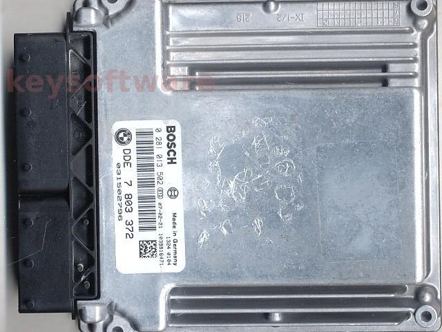 Defecte Ecu Bmw 318D 0281013502 DDE7803372 EDC16C35-2.12 E90