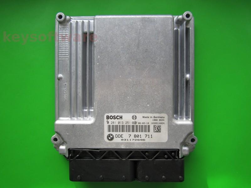 Defecte Ecu Bmw 320D 0281013251 DDE7801711 EDC16C35-2.12 E90