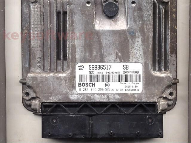 Defecte Ecu Chevrolet Captiva 2.0D 0281014296 EDC16C39