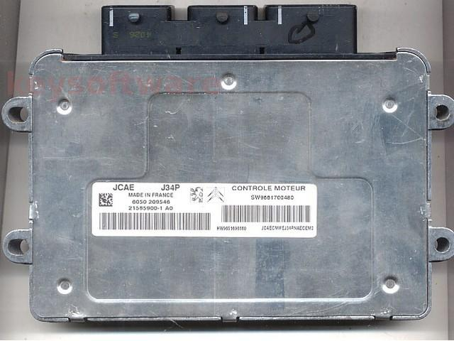 Defecte Ecu Citroen C3 1.1 9661700480 J34P