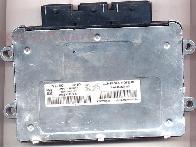 Defecte Ecu Citroen C3 1.4 9664127180 J34P VALEO