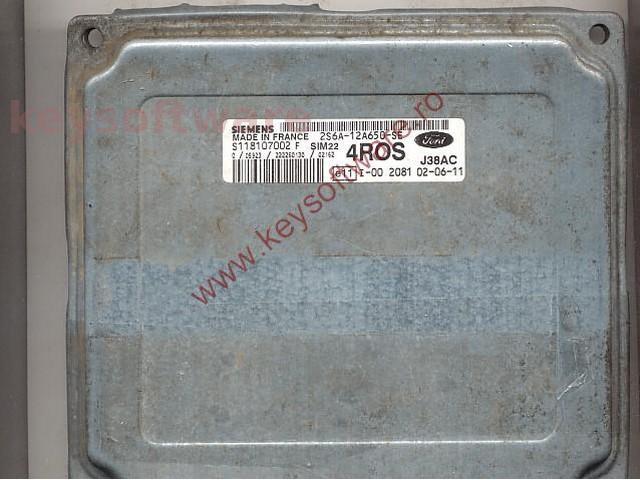 Defecte Ecu Ford Fiesta 1.4 2S6A-12A650-SE SIM22