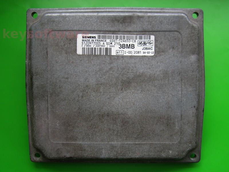 Defecte Ecu Ford Fiesta 1.25 4S61-12A650-CB SIM210