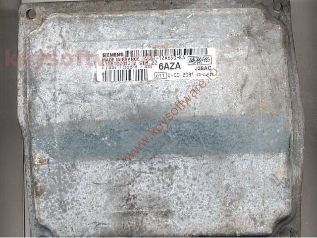Defecte Ecu Ford Fiesta 1.4 4S61-12A650-EA SIM22