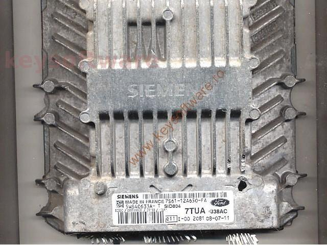 Defecte Ecu Ford Fusion 1.4TDCI 7S61-12A650-FA SID804