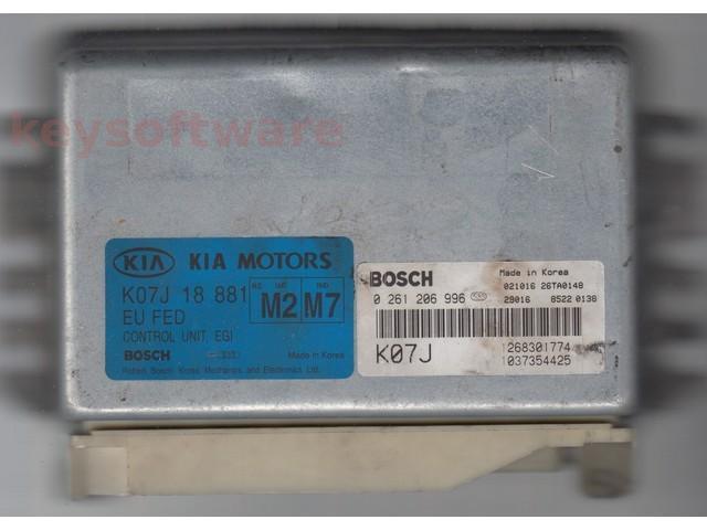 Defecte Ecu Kia Sportage 2.0 K07J 0261206996 M4.6.0