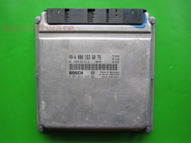 Defecte Ecu Mercedes Sprinter 2.2CDI 0281010920 CR2.35 EDC15C6
