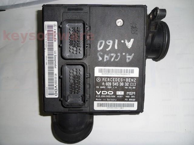 Defecte Ecu Mercedes A140 1.4 A0285453832 MSM1.4 W168