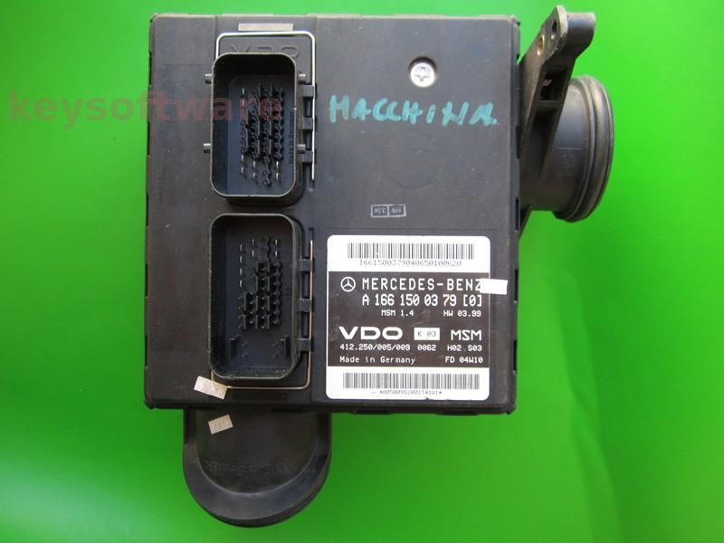 Defecte ECU Mercedes A140 1.4 A1661500379 MSM1.4 W168