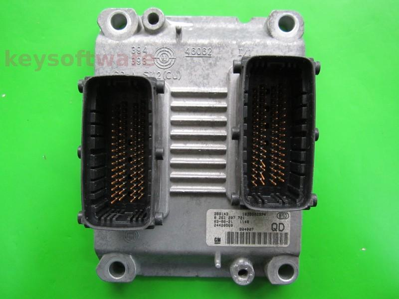Defecte Ecu Opel Corsa C 1.4 24420560 0261207721 ME7.6.1 Z14XEP