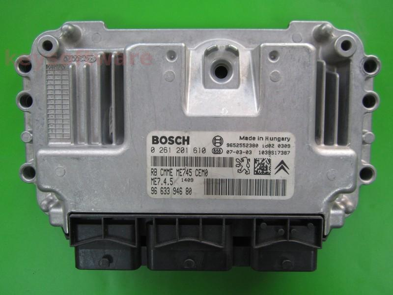 Defecte Ecu Peugeot 307 1.6 0261201610 ME7.4.5