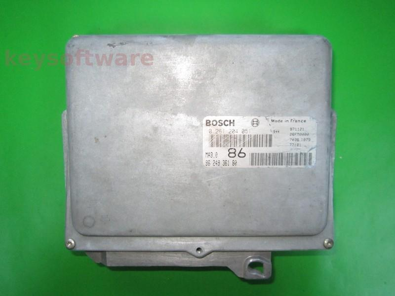 Defecte Ecu Peugeot 106 1.0 0261204051 MA3.0