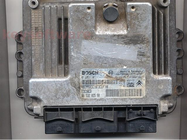 Defecte Ecu Peugeot 206 1.4HDI 0281011089 EDC16C3
