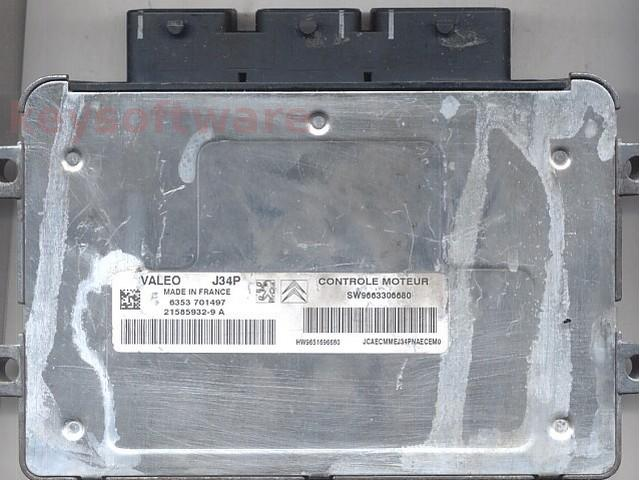 Defecte Ecu Peugeot 207 1.4 9663306680 J34P VALEO