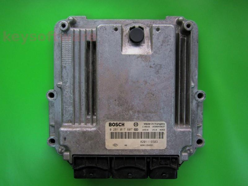 Defecte Ecu Renault Espace 2.0DCI 0281017607 EDC16CP33