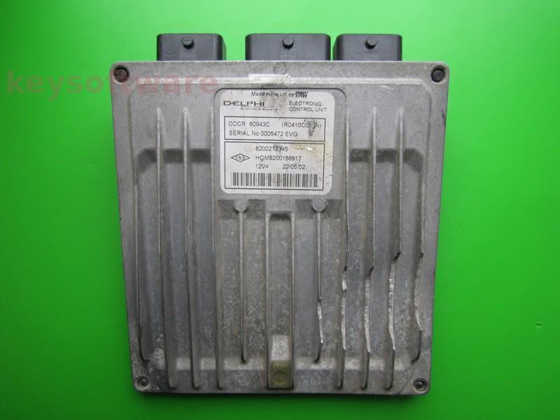 Defecte Ecu Renault Clio 1.5DCI 8200212345 DDCR DELPHI