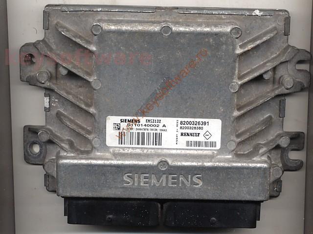 Defecte Ecu Renault Clio 1.4 8200326391 EMS3132