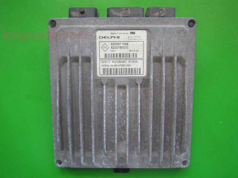 Defecte Ecu Dacia Logan 1.5DCI 8200785530 81353B DCM1.2