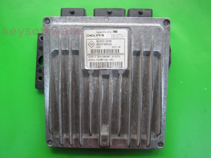 Defecte Ecu Renault Clio 1.5DCI 8200785530 81227D DCM1.2