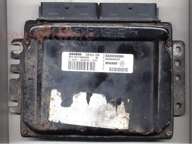 Defecte Ecu Renault Clio 1.2 S110138000B SIRIUS32N