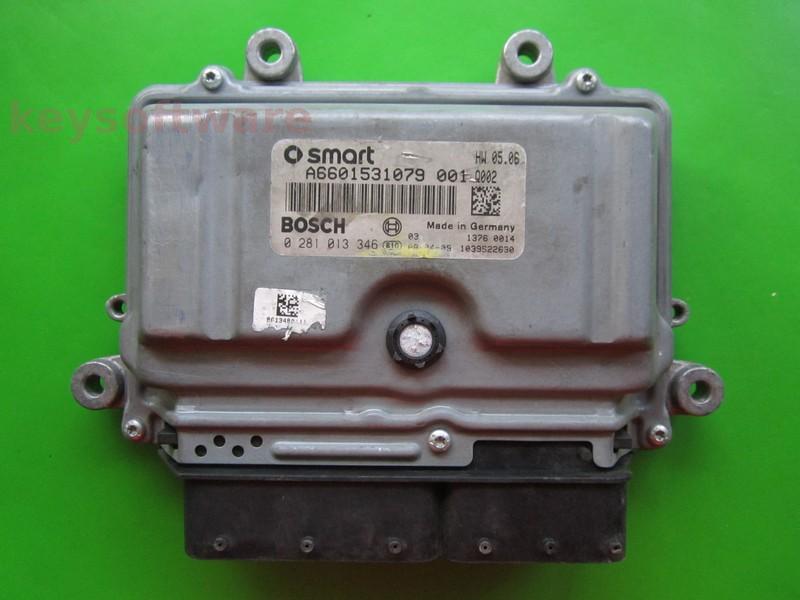 Defecte ECU Smart Fortwo 0.8CDI A6601531079 0281013346 EDC16C32