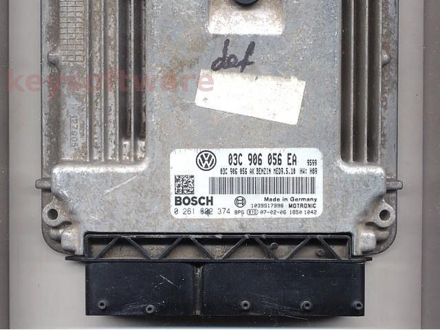 Defecte Ecu VW Eos 1.6FSI 0261S02374 MED9.5.10 BLF