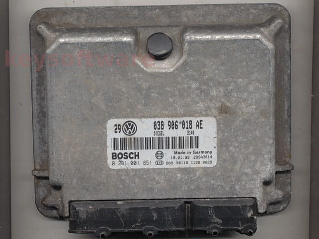 Defecte Ecu VW Golf4 1.9TDI 0281001851 EDC15V ALH
