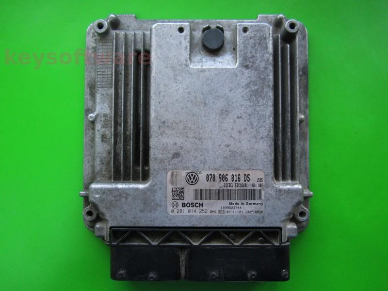 Defecte Ecu VW T5 2.5TDI 0281014252 EDC16U31 BNZ +