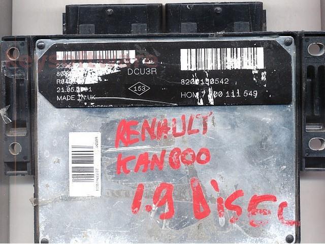 Defecte Ecu Renault Kangoo 1.9D 8200150542 DCU3R