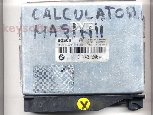 Defecte Ecu Bmw 316i 0261203276 1743246 M1.72 E36