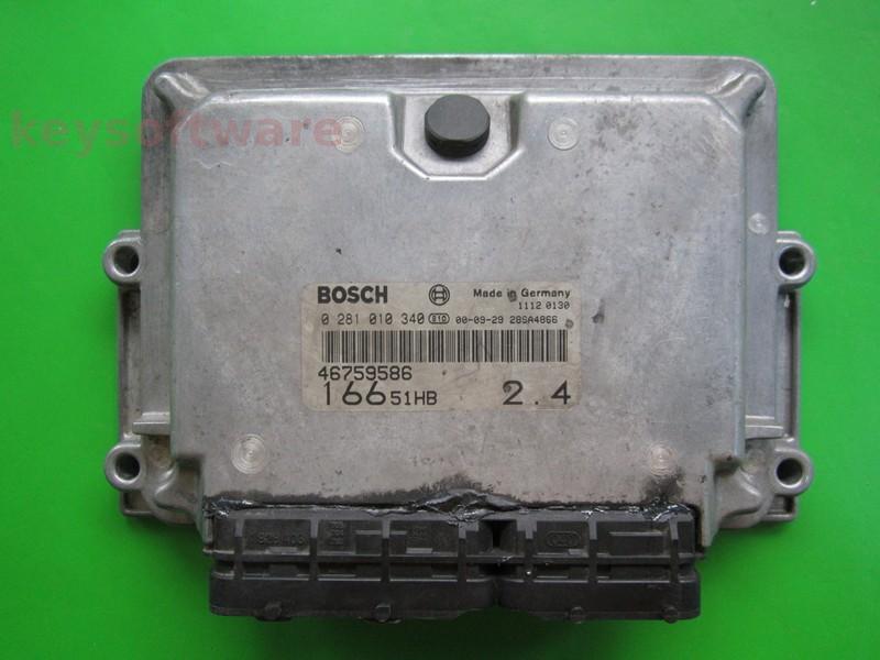 ECU Alfa Romeo 166 2.4JTD 46759586 0281010340 EDC15C7 {