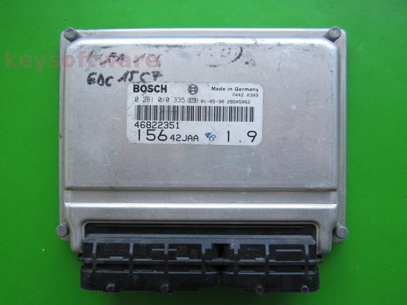 ECU Alfa Romeo 156 1.9JTD 46822351 0281010335 EDC15C7
