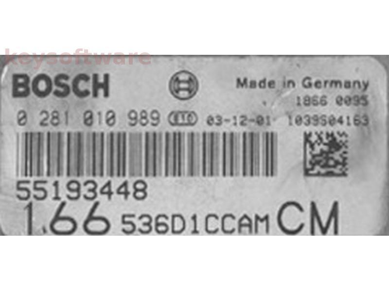ECU Alfa Romeo 166 2.4JTD 55193448 0281010989 EDC16C8 {
