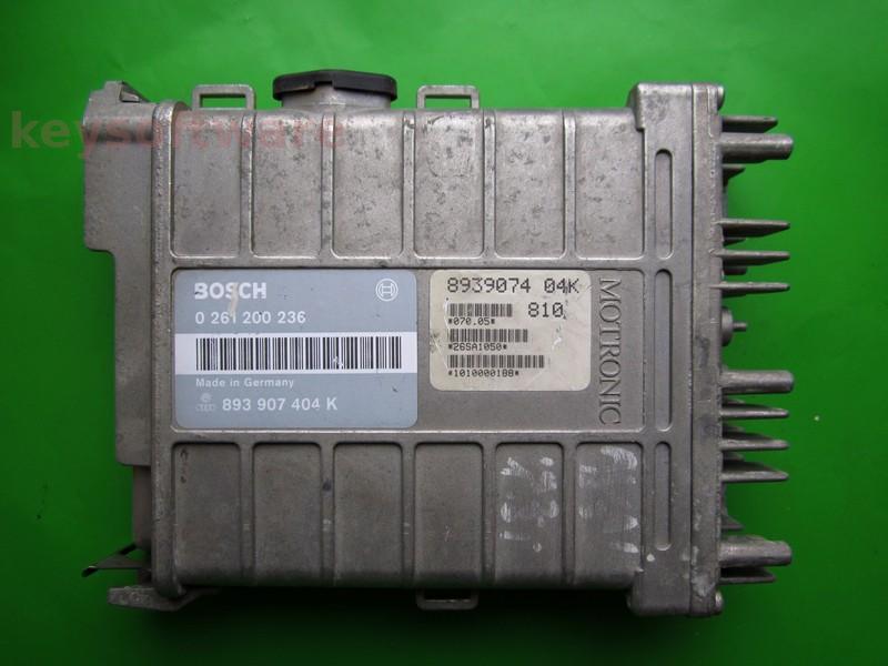ECU Audi 80 1.8 893907404K 0261200236 MK1.2.2
