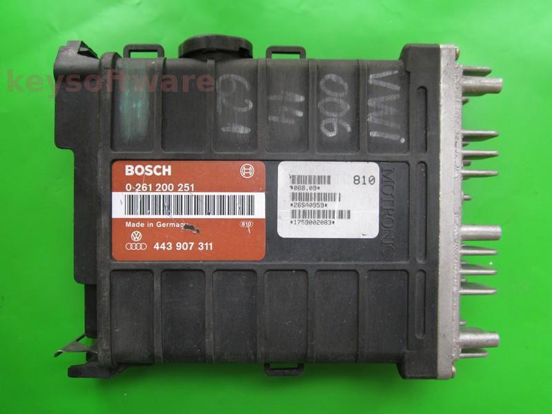 ECU Audi 80 1.8 443907311 0261200251 MA1.2