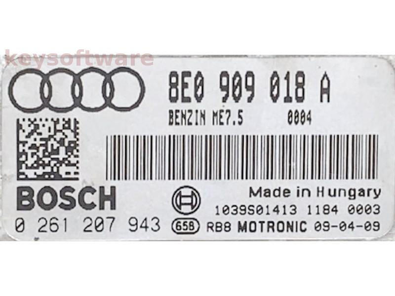 ECU Audi A4 1.8 0261207943 ME7.5 {