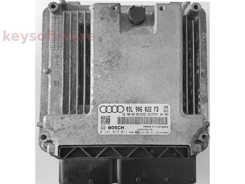 ECU Audi A3 2.0TDI 03L906022FD 0281015011 EDC17CP14 {