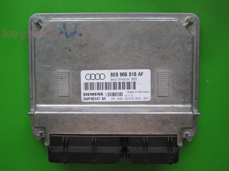 Defecte Ecu Audi A4 1.6 8E0906018AF 5WP40147 SIMOS3.4A
