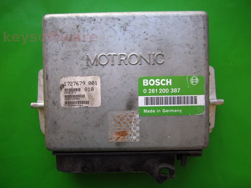 ECU Bmw 318 1727679 0261200387 M1.3 E30