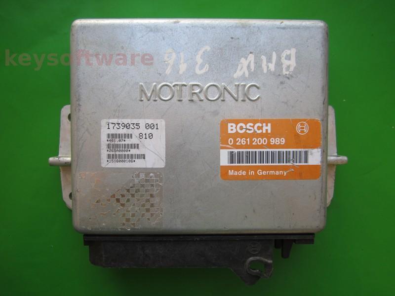 ECU Bmw 316 1739035 0261200989 M1.3 E30