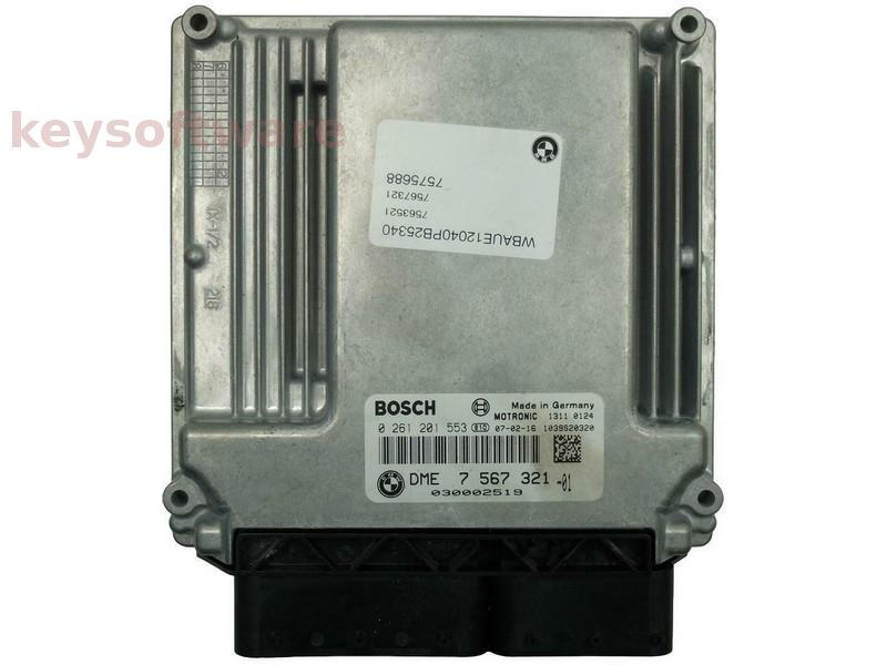 ECU Bmw 116 DME7567321 0261201553 ME17.2.1 E87 {