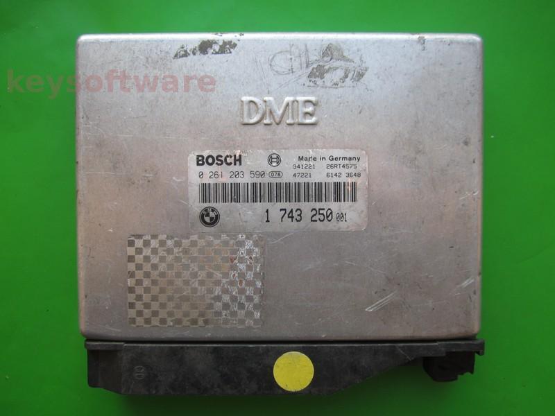 ECU Bmw 318 1743250 0261203590 M1.7.2 E36