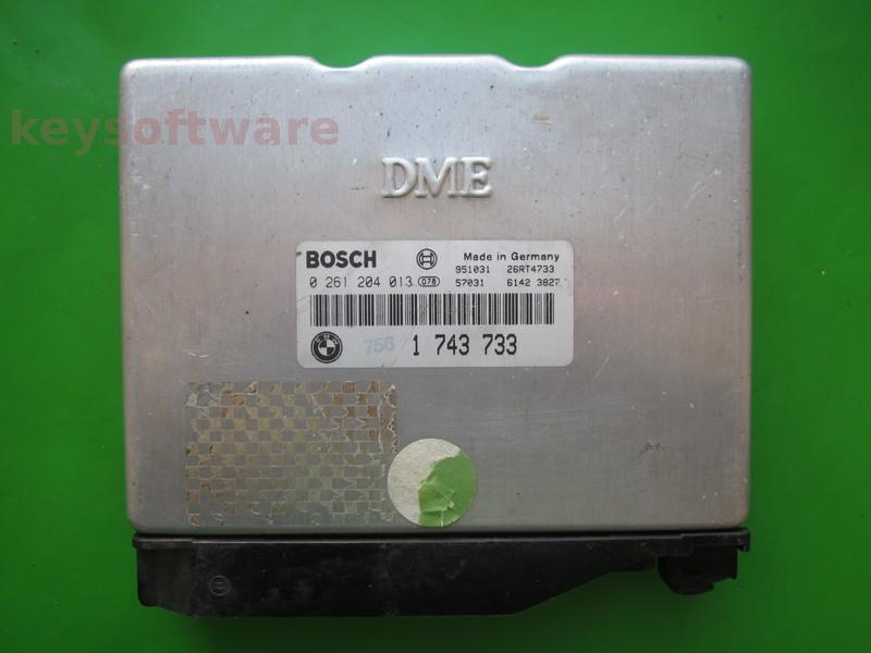 ECU Bmw 316 1743733 0261204013 M1.7.3 E36