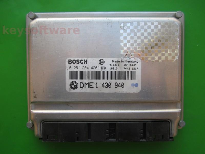ECU Bmw 318 DME1430940 0261204420 BMS46 E46 }