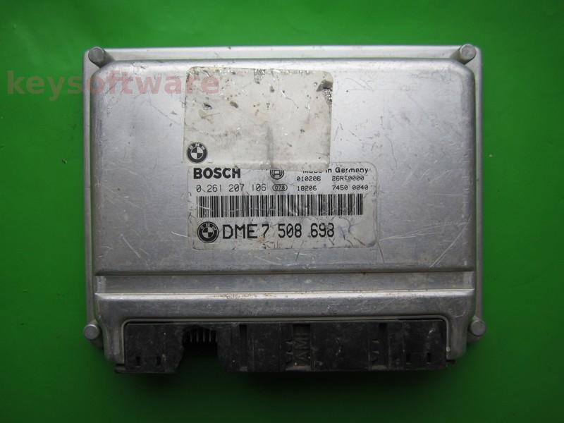 ECU Bmw X5 4.4 DME7508698 0261207106 ME7.2 E38/E39~