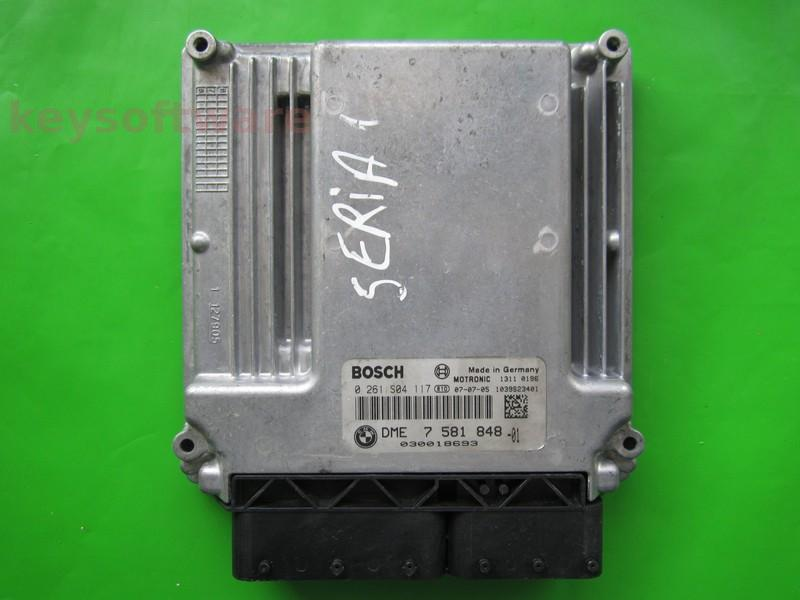 ECU Bmw 116 DME7581848 0261S04117 ME17.2.1