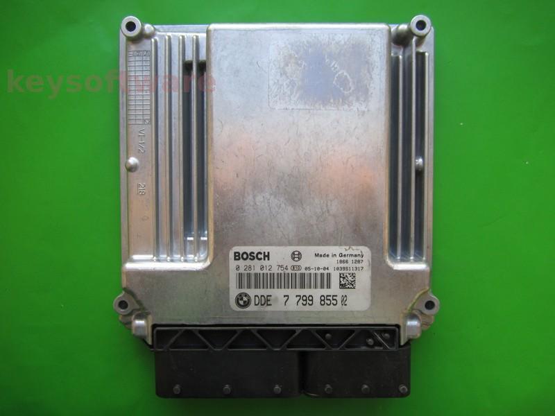 ECU Bmw 120D DDE7799855 0281012754 EDC16C35-2.12 E87 }